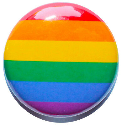 """1"""" (25mm) Rainbow / Gay Pride Button Badge Pin - MADE IN UK - High Quality"""