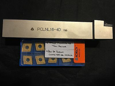"1"" Korloy PCLNL16-4D Tool Holder w/ Box of 10 Korloy CNMG 432 -GR NC3020 Inserts"