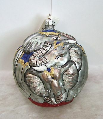 Slavic Treasures Ornament Elephant Ball #98088B PLEASE SEE PICTURES (PR8)