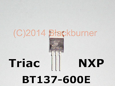 BT137-600E Triac NXP 600V 8A TO220