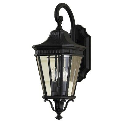 Feiss Cotswold Lane 2-Light Wall Lantern in Black - OL5401BK