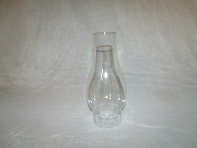 "Clear Glass VINTAGE Kerosene Oil Lamp CHIMNEY    8 1/4"" tall  x  2 7/8"" fitter"