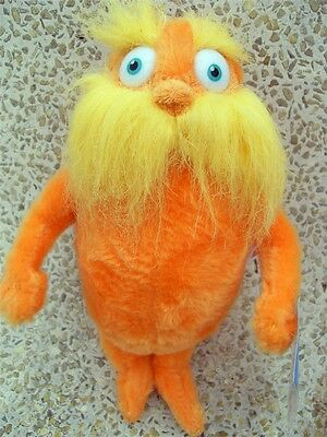 """Brand New Dr. Seuss The Lorax 9"""" Plush Toy Doll"""