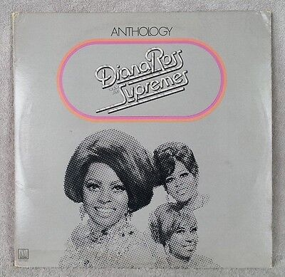 "DIANA ROSS and THE SUPREMES 1974 Anthology 12"" Vinyl 33 TRIPLE LP INSERT VG+"