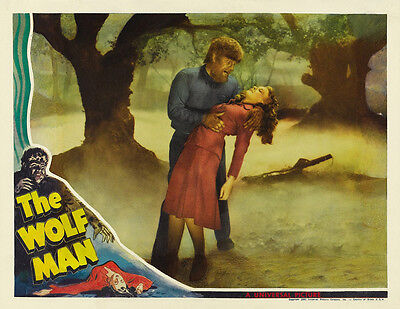 "The Wolf Man Movie Poster Replica 9.5 x 19/"" Photo Print"