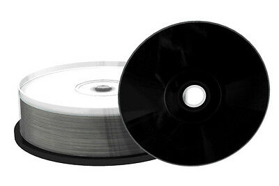 25 Mediarange Black Bottom CD-R CDR blank disc White Printable 52x 700MB MR241