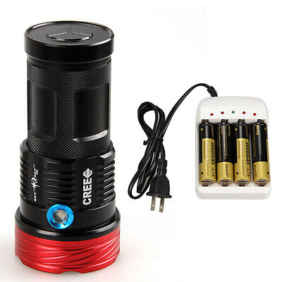 Rechargeable SKYRAY 15000 LM 9x CREE XML T6 LED Flashlight Torch Hunting 18650