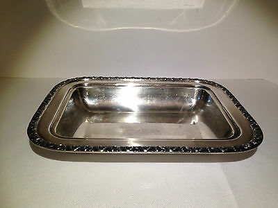 National Silver on Copper 3C05 Bowl Dish 11 1/2 x 8 3/4