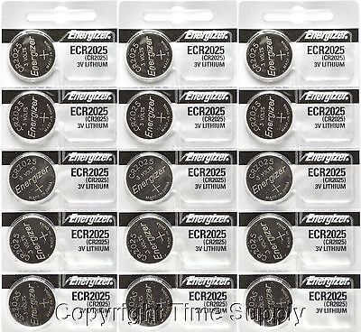 15 pcs 2025 Energizer Watch Batteries CR2025 CR 2025 3V Lithium Battery 0%HG
