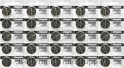 25 pcs 2025 Energizer Watch Batteries CR2025 CR 2025 3V Lithium Battery 0%HG