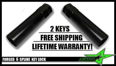 2 Pc 6 Spline Lug Nut Key | Security Spline Tool Lock | Fits Gorilla Muteki Lugs