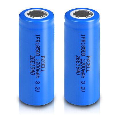 4 pieces PKCELL ICR 18650 Battery 2200mAh Genuine 4.2v Rechargeable For Vape