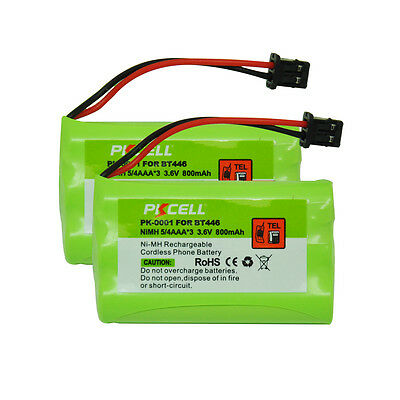 2 Cordless Home Phone Battery Replacement Ni-MH 800mAh 3.6V for Uniden BT-446 CA