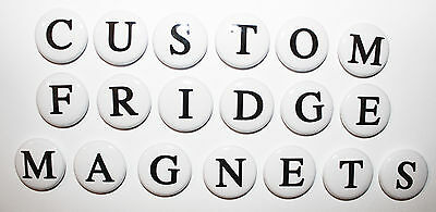 CUSTOM FRIDGE MAGNETS - ANY LETTERS & NUMBERS - Gift & Kitchen - 25mm