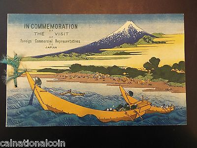 Visit of Foreign Commercial Representatives to Japan Vintage Photo Booklet