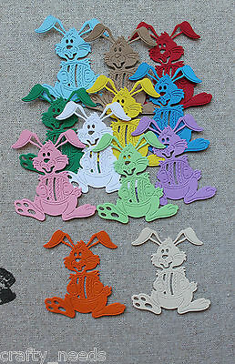 10PC - Easter BUNNY, Rabbit  Paper Die Cuts Toppers, Scrapbooking