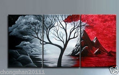 3pc Large Modern Abstract Art Handmade Oil Painting Wall Deco canvas (no framed)