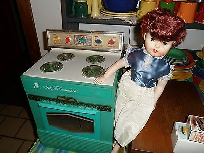Vintage 1950 to 60's Suzy Homemaker Oven Antique Toy AND INCLUDED DOLL!