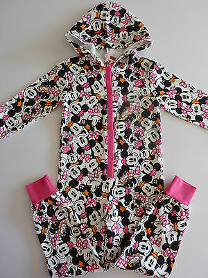 Disney MINNIE MOUSE Hooded All in One 6-7 Years NWT