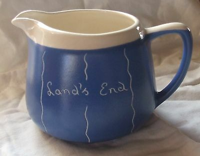 FOSTERS STUDIO POTTERY, Cornwall - Blue / Cream JUG, LAND'S END