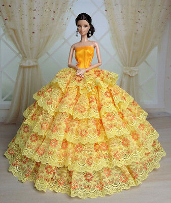 Gorgeous Fashion Princess Party Dress/Clothes/Gown For Barbie Doll S503