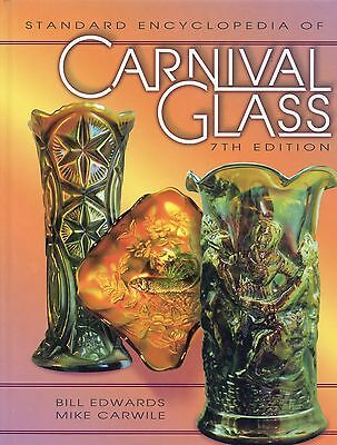 Antique Vintage Carnival Glass - Makers Types Colors / Illustrated Book + Values