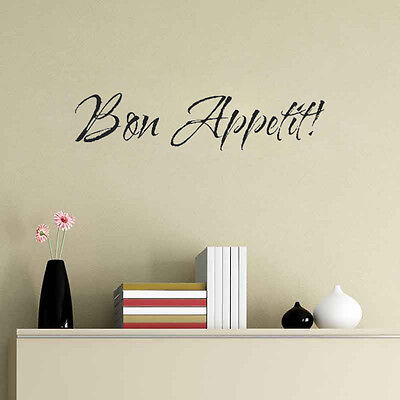 Bon Appetite Dinner Breakfast Vinyl Decal Wall Quote Inspiration Room Stickers