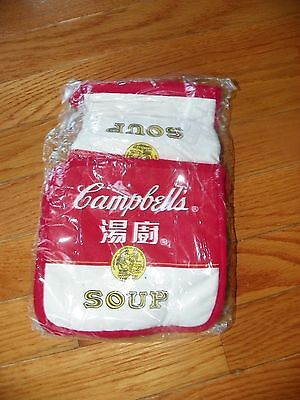CAMPBELL'S SOUP POT HOLDER AND MITT NIP CHINESE ENGLISH VINTAGE