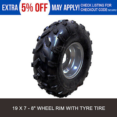 19 X 7 - 8 Inch Wheels Tyre + Rim 125/150/200/250CC Quad Bike ATV Buggy Go Kart