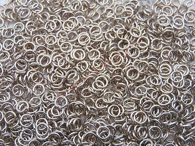 300 Pcs -  4mm Antique Silver Jump Rings Jewellery Craft Findings Beading O165