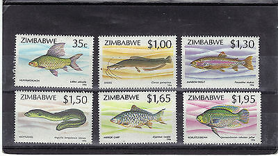 ZIMBABWE 1994 FISHES Stamps Set 6v SG864-869 Unmounted Mint REF:W440
