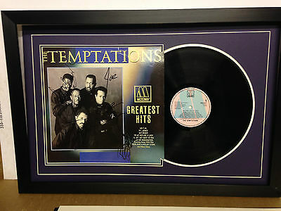 Temptations Genuine Hand Signed/Autographed LP Cover with Vinyl & COA