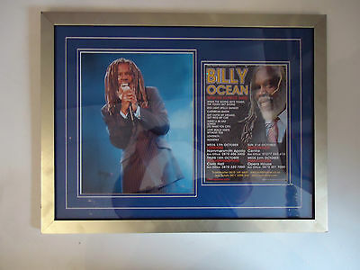 Billy Ocean Genuine Hand Signed/Autographed Tour Flyer with photo & COA