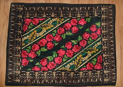 Vintage Horsehair Carriage Sleigh Buggy Blanket by CHASE Rose,Can Be Used As Rug