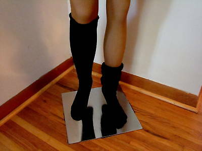 2 Slouch Knee Socks Black for Hooters Uniform lot long cotton women's sexy FS