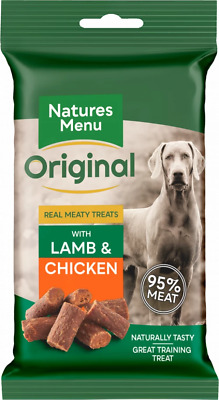 Natures Menu- 3 packs of Real Lamb mini dog treats- Made with 95% REAL MEAT