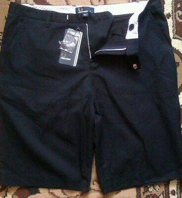 AUTHENTIC Men's FRED PERRY  SITY  NAVY BLUE SHORTS size 32 BNWT