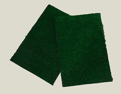 """SET OF 2 INDOOR PUPPY POTTY TRAINER REPLACEMENT GRASS PATCHES 10.25"""" X 15.25"""""""