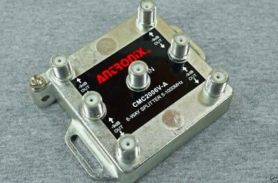 Antronix 6-way High Performance Coaxial Splitter Signal CMC2006V Cable TV HD