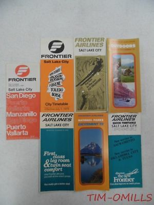 1970s 1980s Frontier Airlines Timetables Lot of 7 System Timetable & Quick Ref
