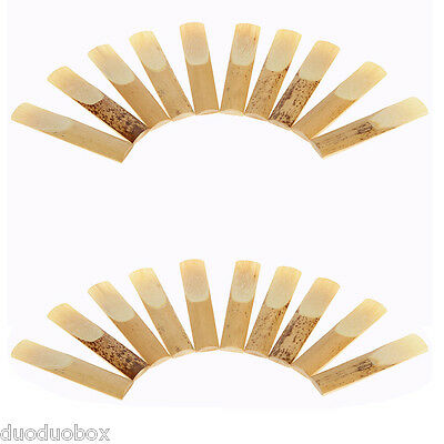 20 Pieces 2.5 Reed Bamboo for Tenor bB Saxophone Sax Accessories