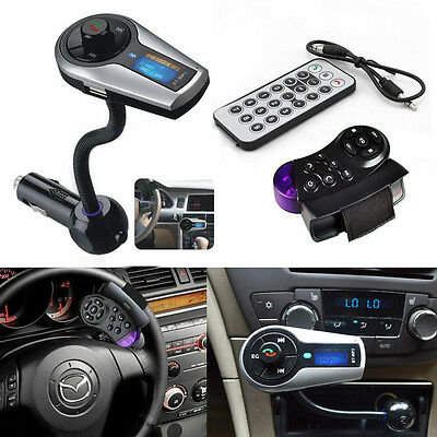 Bluetooth MP3 Player FM Transmitter Handsfree Car Kit for iPhone 6 5 Samsung HTC