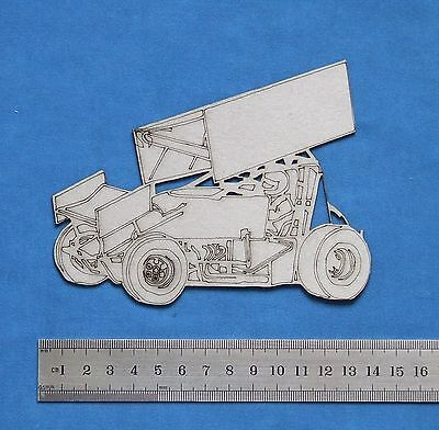 Chipboard A2Z Scraplets Engraved Sprint Car