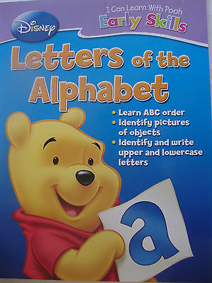 """ Disney  Pooh, "" 32 page, Workbook,  Letters of the Alphabet,  Educational, NEW"