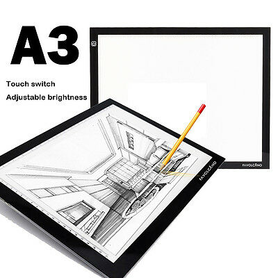 A3 Ultra Thin LED Animation Drawing Stencil Board Table Copy Plate Pad Light Box