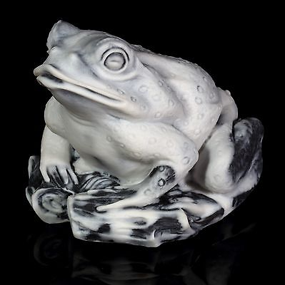 Frog Marble Sculpture Russian Art Home Decor Animal Figurine Stone Toad Statue