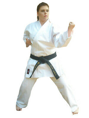 Karate Gi White suit Heavyweight Tournament 16oz Brushed Canvas Uniform Aikido