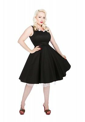 327c474093 H&R LONDON SCALLOP BLACK WHITE COCKTAIL 50s PINUP PUNK VINTAGE PROM DRESS
