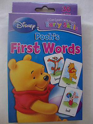""" Winnie the Pooh"", 36 Learning, Flash Cards, First Words, Educational, Fun,NEW"