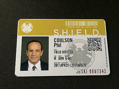 Marvel Agents Of SHIELD Avengers Phil Coulson ID Card Security Badge Prop